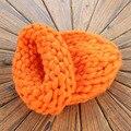 Chapéus para mulheres inverno cor sólida quente malha beanie hat