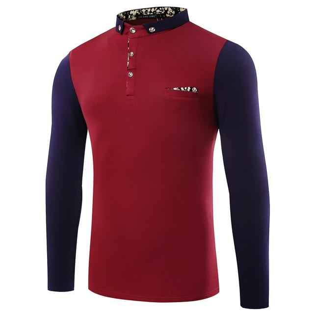 02f32a7f7fb5c 2016 New Men s Clothing Solid Polo Shirts Polos Hombre Manga Corta Marca  Camisa Barcelona Mens Polo Shirt Brands Long Sleeves