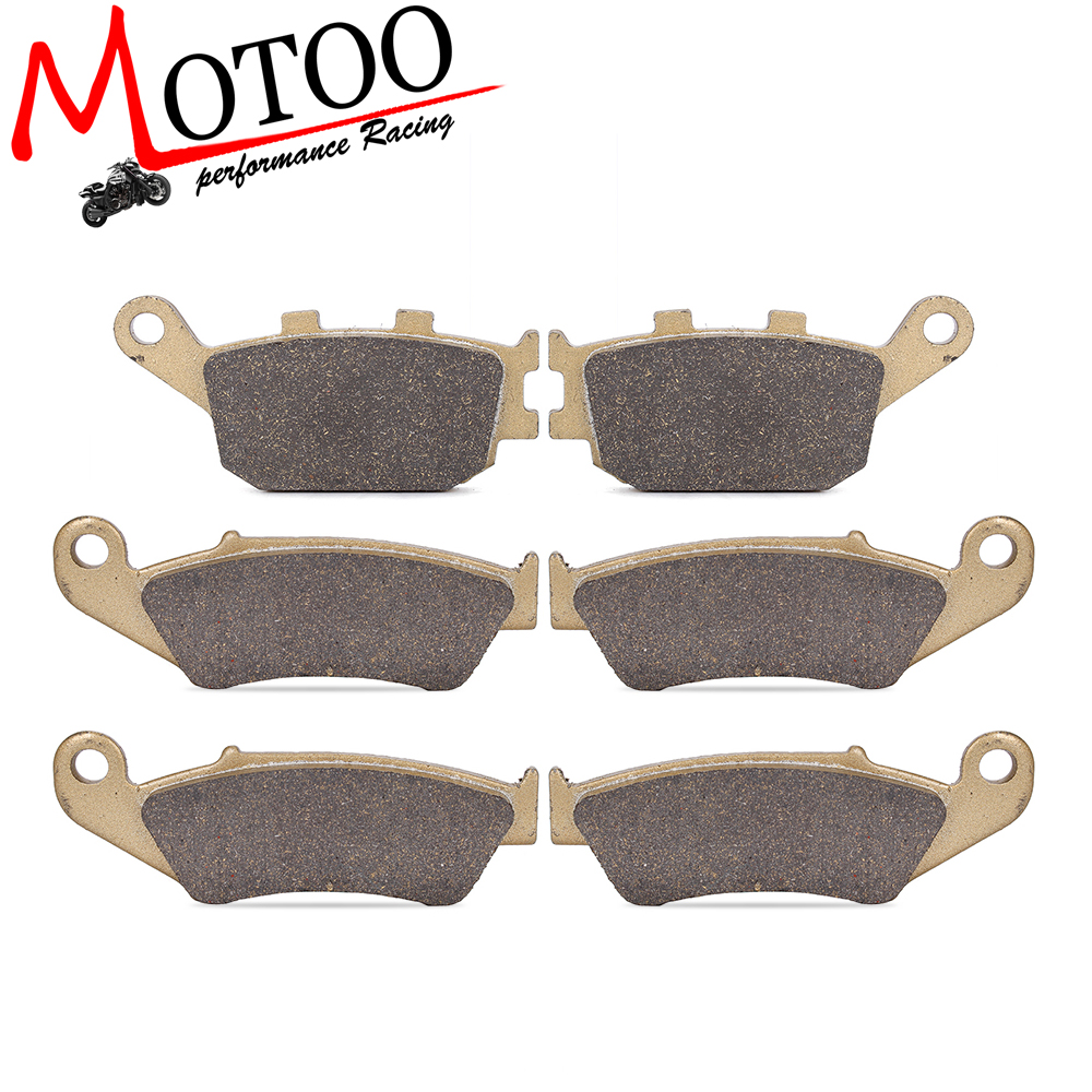 Motoo - Motorcycle Front and Rear Brake Pads For honda XRV750 Africa Twin 1994-2003 motoo motorcycle front and rear brake pads for honda xrv750 africa twin 1994 2003