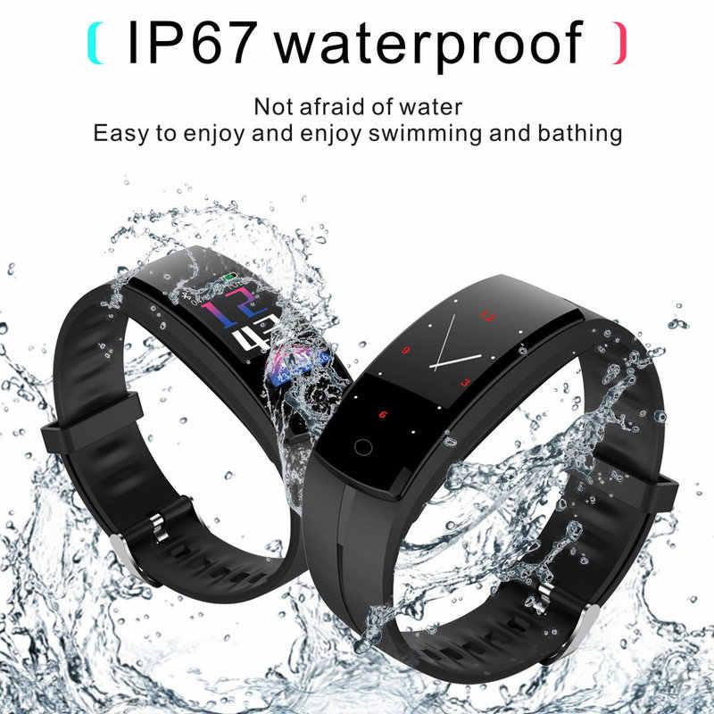 Đồng Hồ thể thao nam smaerwatch Huyết áp Nhịp Tim sang trọng nữ Đồng hồ Màn Hình OLED IP67 Chống Nước Bước tính cho điện thoại