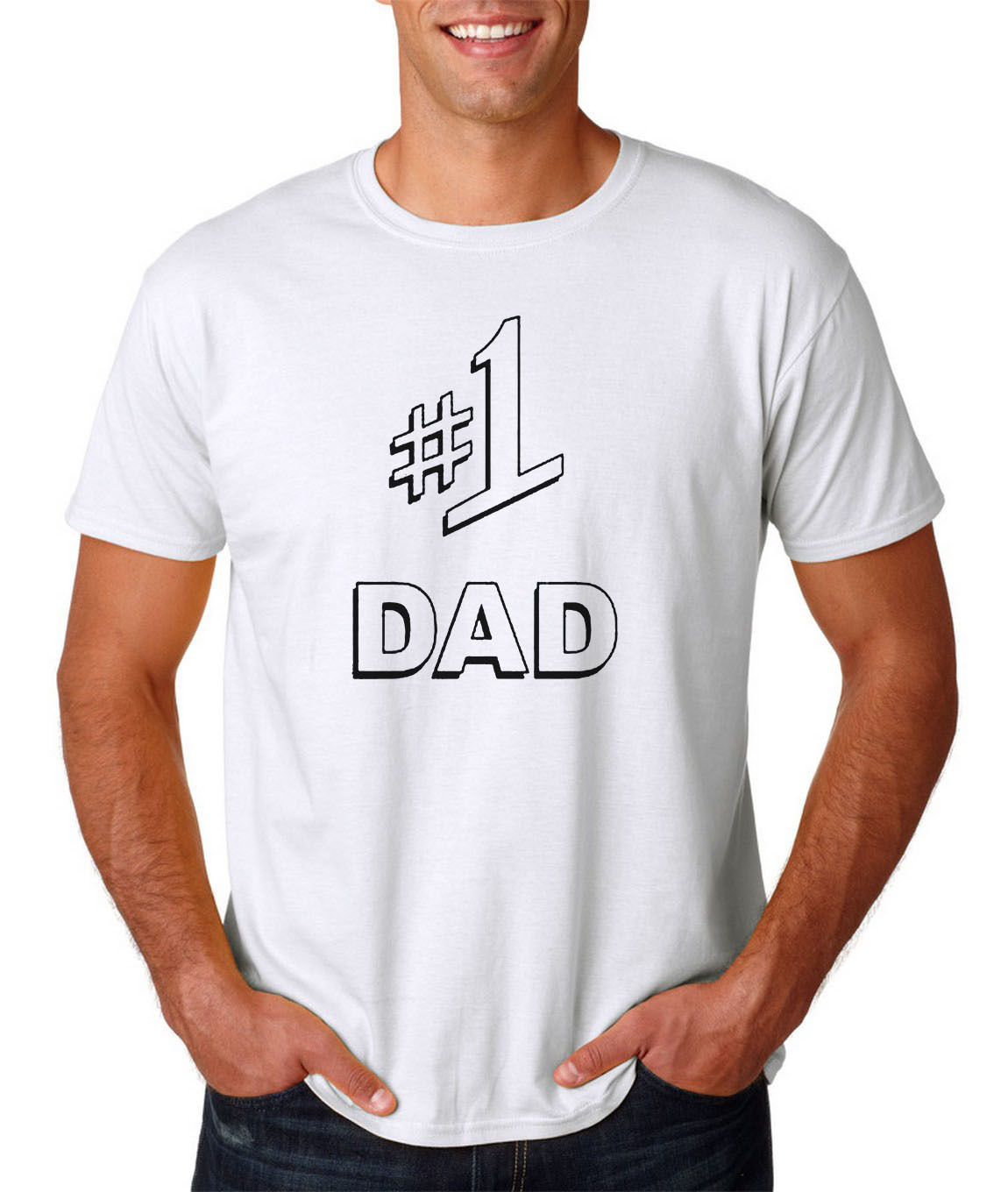 #1 DAD Jerry SEINFELD Larry David Father/'s Day Number 1 T-Shirt SIZES S-5X