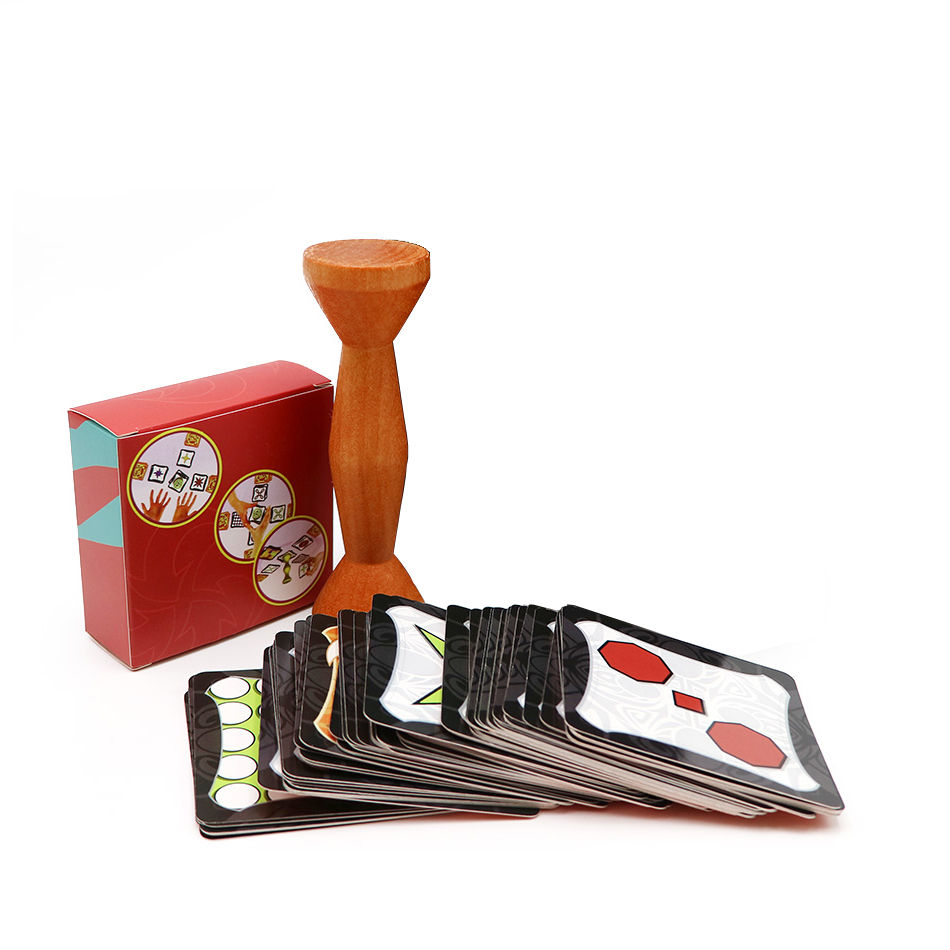 Hot Playing Cards Board Game Gold Wood Jungle Speed Token Run Fast Cards Table Games for Family Friends Entertainment Child Girt