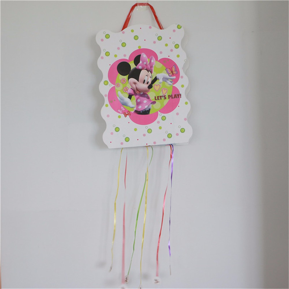 2Pcs Minnie Mouse theme Pinata Birthday Party Play Game for Boys Party decoration children favor bingo paper folding pinata