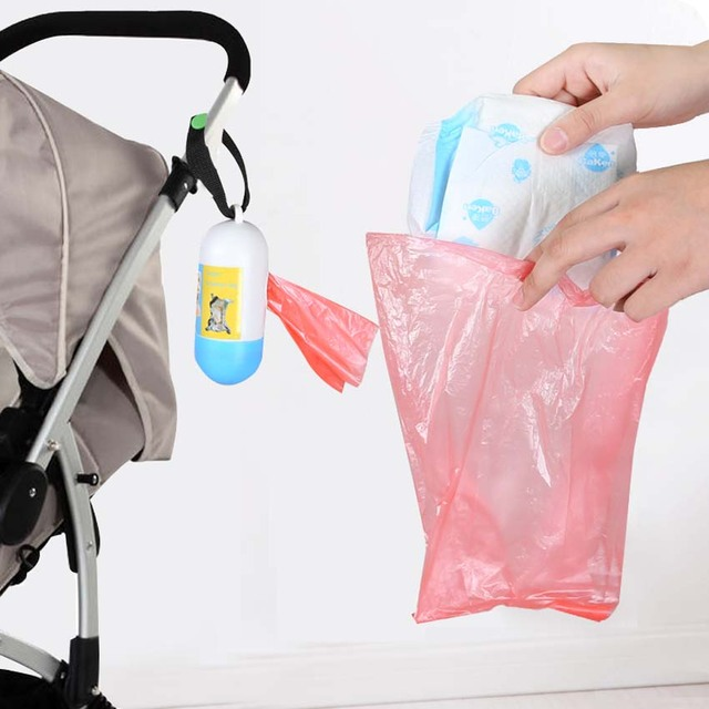 10 Rolls=200 Pcs Garbage Bags Travel Nappy Bags Baby Diaper Disposable One-time Use Rubbish Bag Baby Healthcare Set With Box