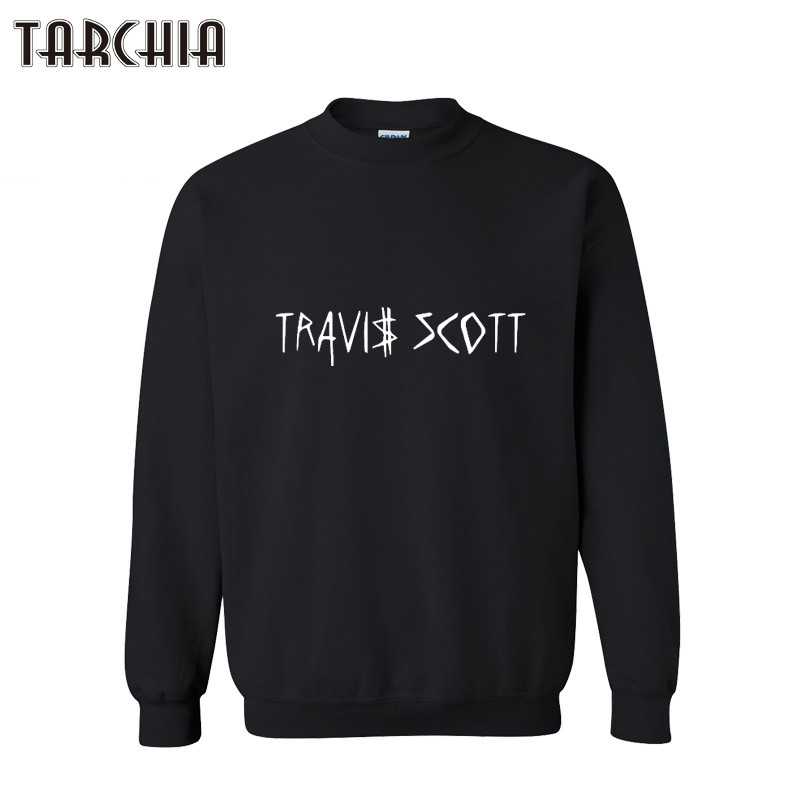 TARCHIA Mens Hooded Hoodies 2018 TRAVI SCOTT Print Sweatshirt Mens Pullover Hoodies Clothes Male Clothing Casual Hoodies