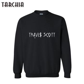 TARCHIA Mens Hooded Hoodies 2018 TRAVI SCOTT Print Sweatshirt Mens Pullover Hoodies Clothes Male Clothing Casual Hoodies
