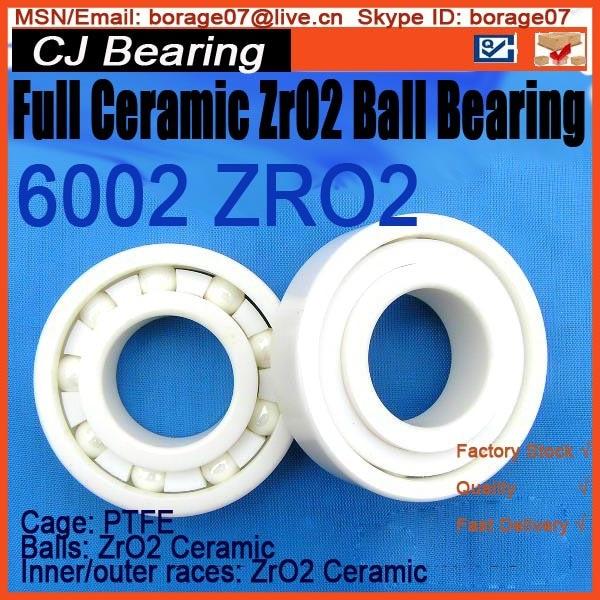 Full Ceramic bearing 6002 ceramic ball bearing zro2 61916 6916 zro2 full ceramic bearing 80x110x16mm