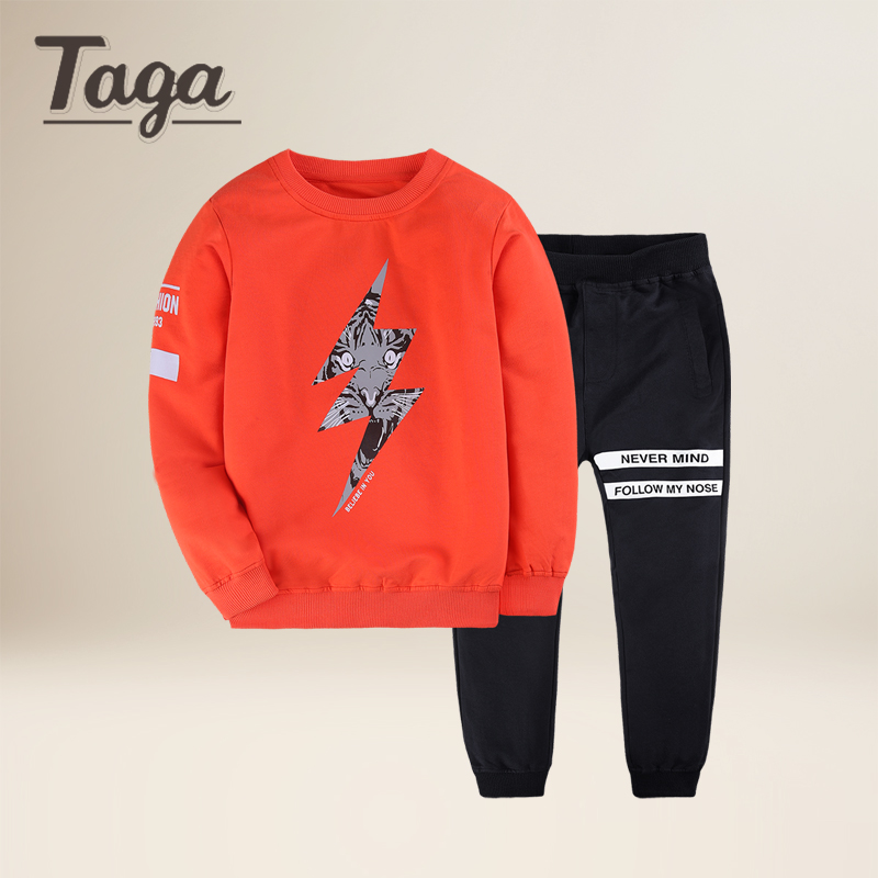 TAGA 2018 new Spring kids clothes sets boy t-shirt+pants 2pcs suit clothing set sport Clothes suits baby boy children clothes baby boy clothes 2017 brand summer kids clothes sets t shirt pants suit clothing set star printed clothes newborn sport suits
