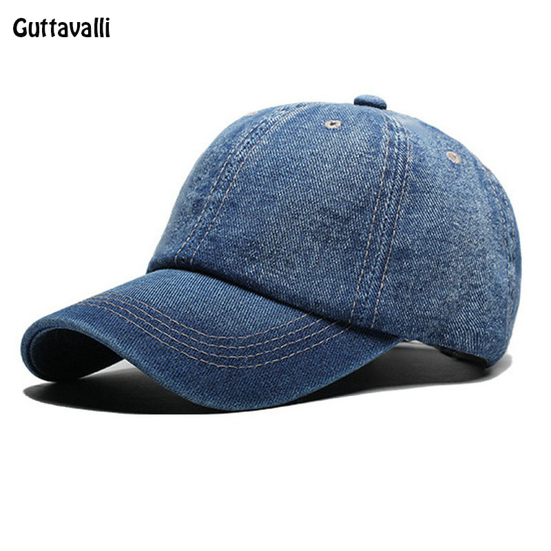 c3ee187527e3f Guttavalli women men Spring jean cap summer solid cotton baseball hats sun  hats girl boy denim