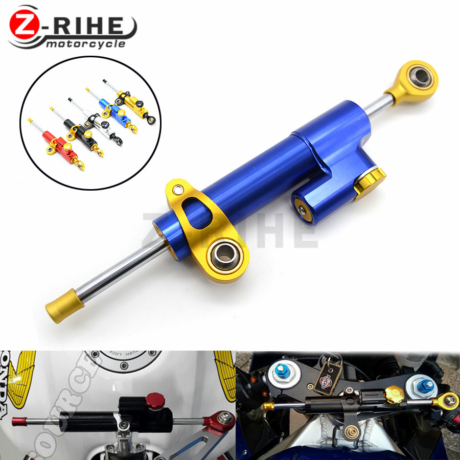 for Motorcycle Damper Stabilizer Damper Steering For Kawasaki Zx6r Zx7r Zx9r Zx10r Z750 Z800 Z1000 Er6n Er6f Z250 Z300 Free ship for kawasaki z750 z800 z 750 z 800 universal motorcycle accessories stabilizer damper steering mounting all year