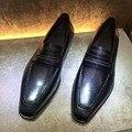 TERSE_Iron серый винтаж мужчины мокасины кожаные ботинки ручной goodyear туфли высокое качество натуральная кожа свадебные туфли на заказ