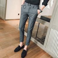 New 2018 men's trousers Korean Slim circle design casual pants men's young men's British wave of wild Joker feet trousers