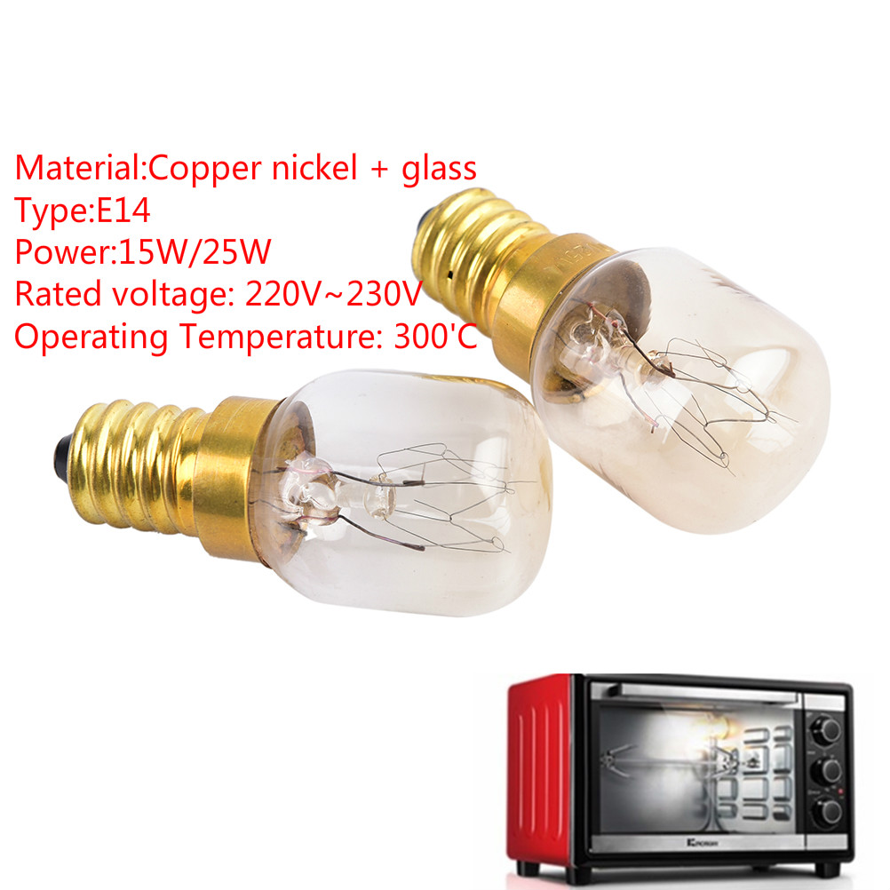 E14 Oven Lamps 300 Degree Toaster Light 15W/25W Oven Bulb Light Bulbs High Temperature 220V~230V