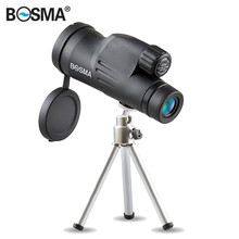Buy BOSMA New Arrival 10X50/12X50 Hunting Optics Monocular HD Prism Nitrogenization Waterproof Bird Watching Telescope with Tripod