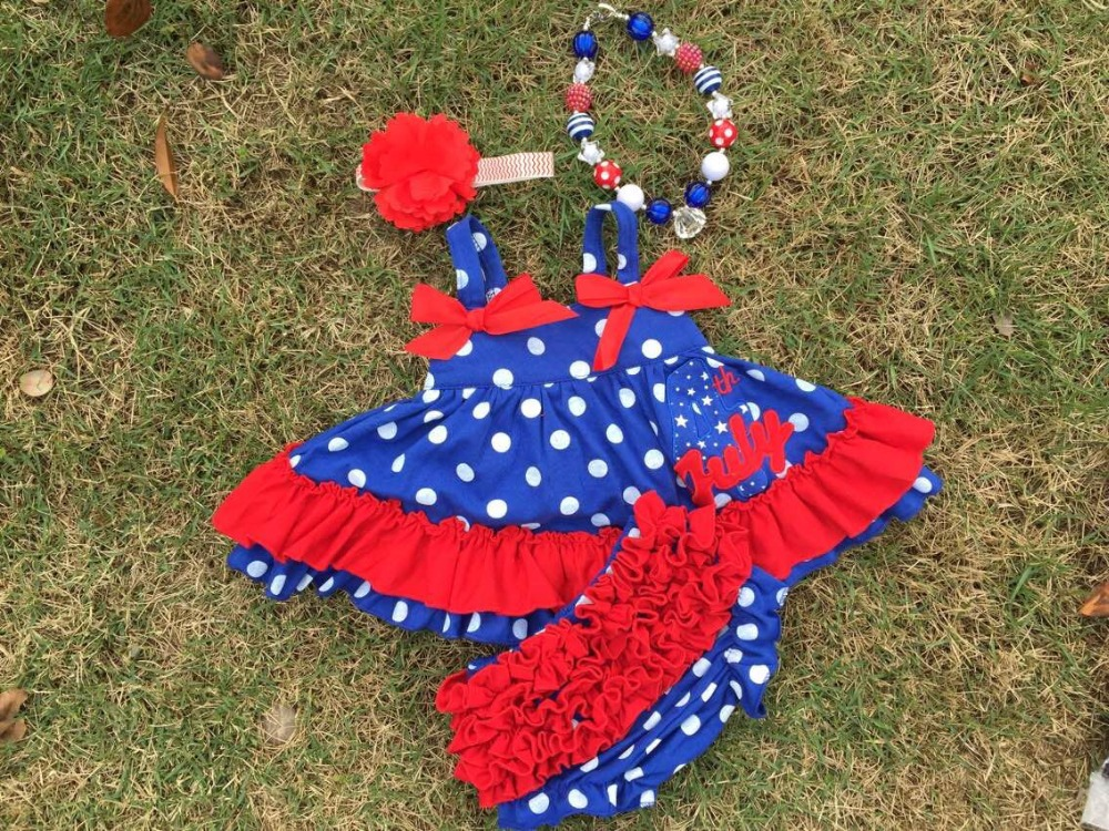 Aliexpress.com : Buy 2015 baby girls kids 4th of July patriotic swing top  set swing outfits with matching headband and necklace from Reliable tops  for girls ... - Aliexpress.com : Buy 2015 Baby Girls Kids 4th Of July Patriotic