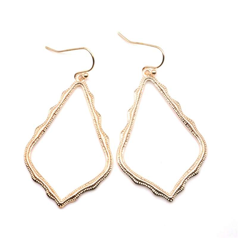 15 Colors Designer Frame Teardrop Earrings for Women Fashion Jewelry Painting Metal Water Drop Earrings Statement Earrings 19