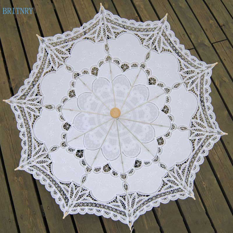 Hand-Made-White-Victorian-Umbrella-Lace-Wedding-Bridal-Umbrella (2)