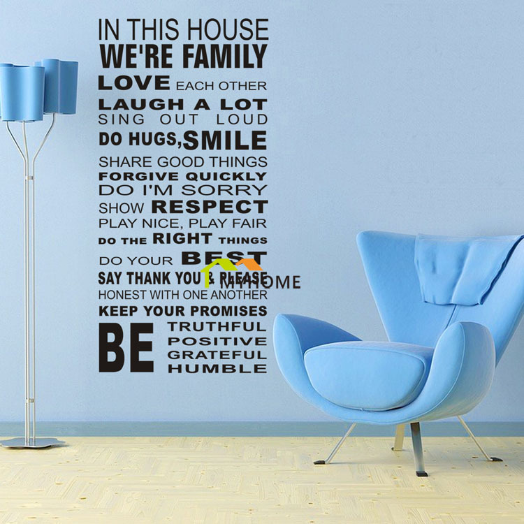 Living Room Sayings online shop black lettering wall stickers quotes and sayings art
