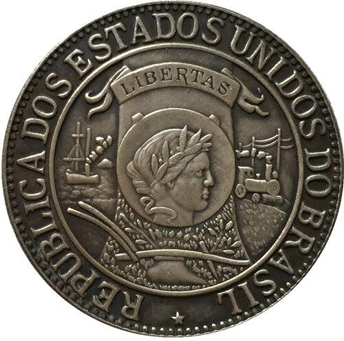 1900 Бразилия 1000 Reis Монеты Скопируйте Бесплатная доставка 30 мм ...