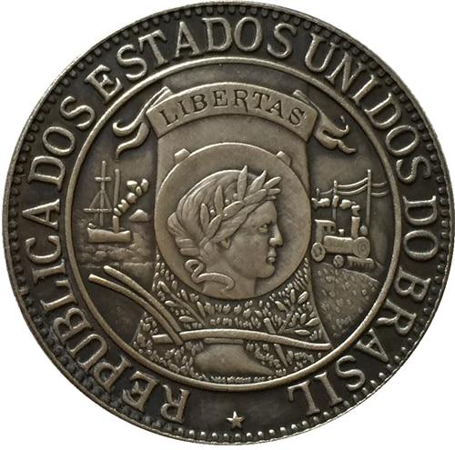 1900 Brazil 1000 Reis coins COPY 30MM