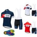 Мужская одежда для велоспорта IAM, дышащая быстросохнущая велосипедная одежда с коротким рукавом, комплект из майки для велоспорта, лето 2019