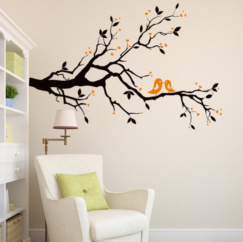 Online buy wholesale saloon decorations from china saloon for Black tree mural