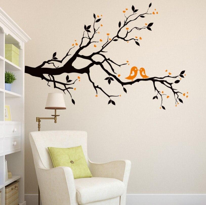 2017 new orange love birds wallpaper wallpaper mural for Womens bedroom wallpaper