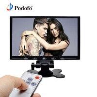 Podofo 9 LCD Car Monitor HD TFT Color Screen 2 Video Input HDMI VGA Support Mini