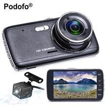 Promo offer Podofo Night Vision Car DVR Camera Dash Cam Novatek 96658 HD with Rear View dual Camera Auto Registrator Digital Video Recorder