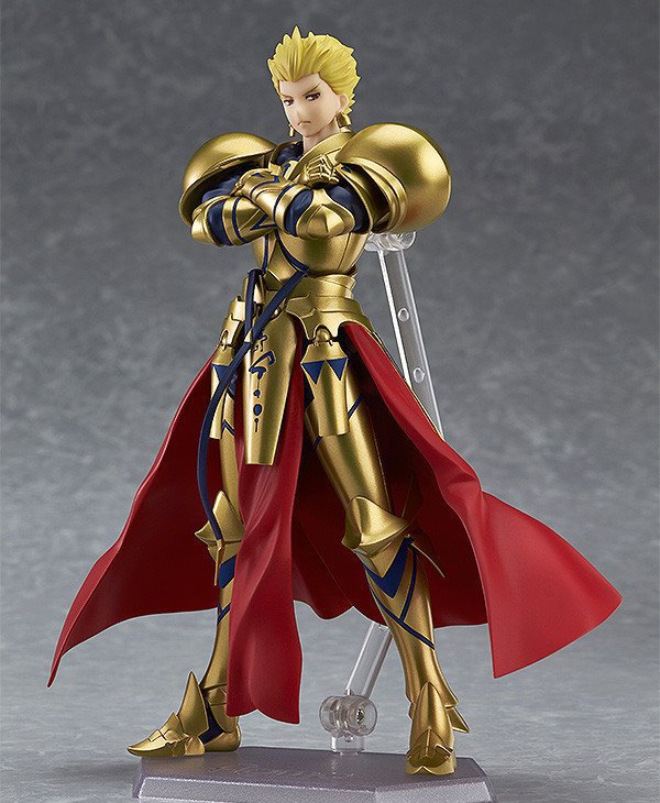 Anime Fate Grand Order figma 300 Archer Gilgamesh PVC Action Figure Collection Model Kids Toys Doll 15cm fate grand order anime saber jeanne gilgamesh e f g h i j series japanese rubber keychain