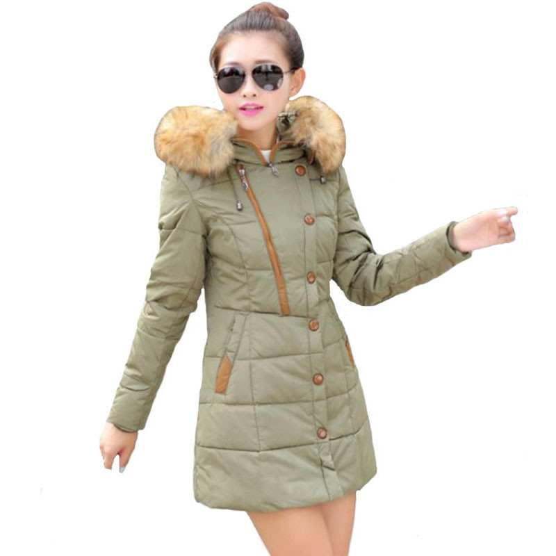 Plus Size 2016 New Winter Parka Cotton Coat Women Winter Jacket Women Fur Hooded Thick Warm Female Outerwear Manteau Femme W206 трехколесный велосипед lexus trike next pro ms 0521 зеленый
