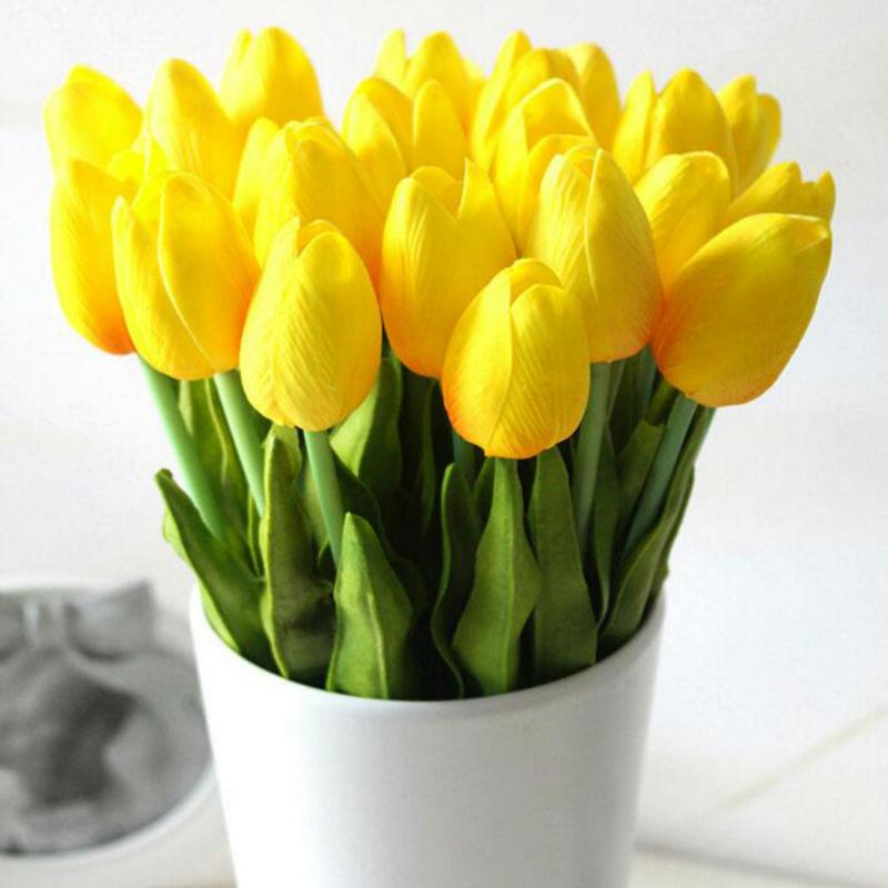 뜨거운 판매 30 개 / 몫 인공 꽃 미니 튤립 잎 꽃 - 휴일 파티 용품 - 사진 5