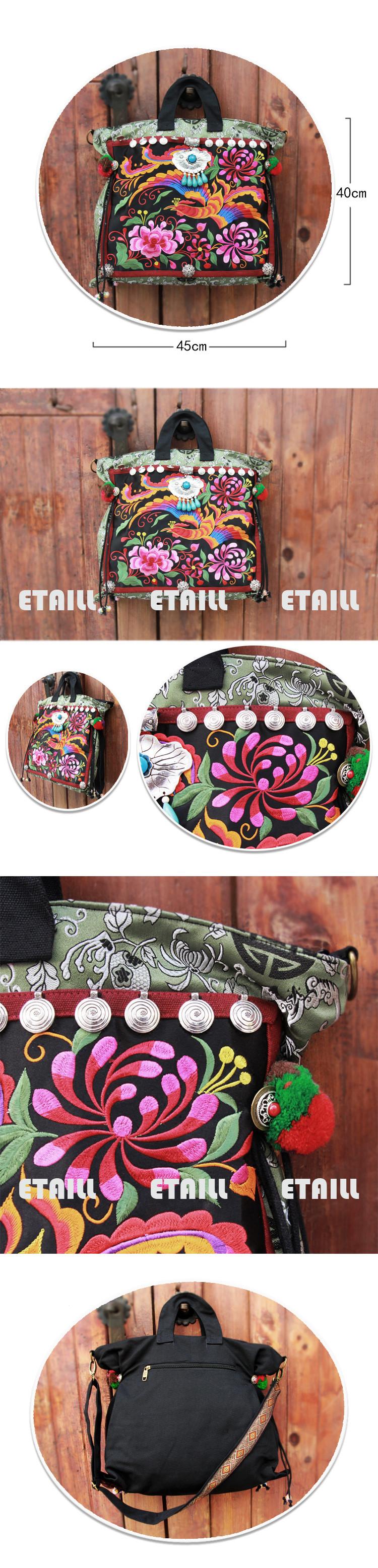 Chinese Style Cotton Bag Women Handbag Embroidery Ethnic