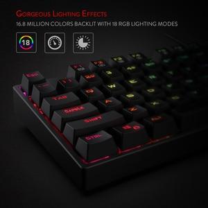 Image 3 - Redragon K582 SURARA RGB LED עם תאורה אחורית משחקים מכאניים מקלדת with104 מפתחות ליניארי ושקט אדום מתגי מהיר Actuation