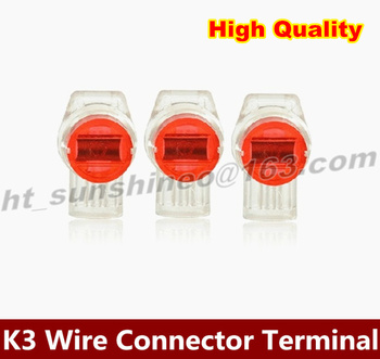 Free shipping  1000PCS/LOT  K3 Wires Terminals 0.4-0.9MM For Telephone Network three Line Connection continued