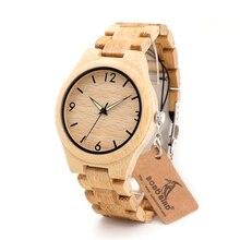 BOBO BIRD G25 Men Wooden Watches Fashion Casual Luminous Needles Digital Face with Bamboo Band Erkek Clock in Gift Box