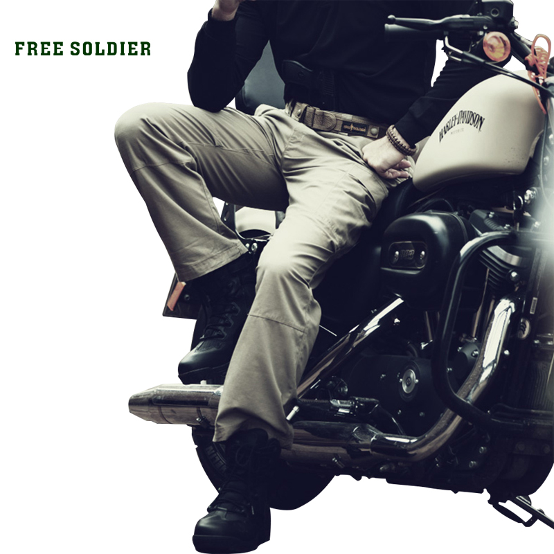 FREE SOLDIER outdoor hiking camping tactical pants 50 cotton and 50 nylon wear resistant male pants
