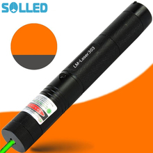 Big discount SOLLED Laser Pointer High Power Strong Light Match Cigarette and Fire Lighter Green beam Laser Flashlight