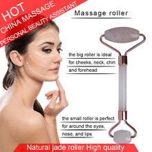 NEW Face Massager Massage Stone Roller Dark Eye Circles Slimming Lifting Kit Natural Jade Facial Skin Massage SPA Beauty Care mini facial clean whitening eye pouch dark circles therapy ultrasonic galvanic ion face eye skin rejuvenation spa beauty device