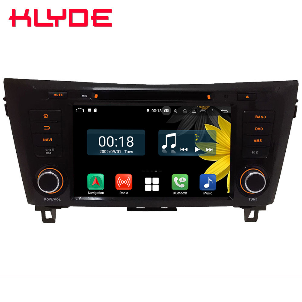 8 Octa Core 4G Android 8.1 4GB RAM 64GB ROM Car DVD Player Radio GPS Glonass For Nissan Dualis Rogue Qashqai X Trail 2013 2018