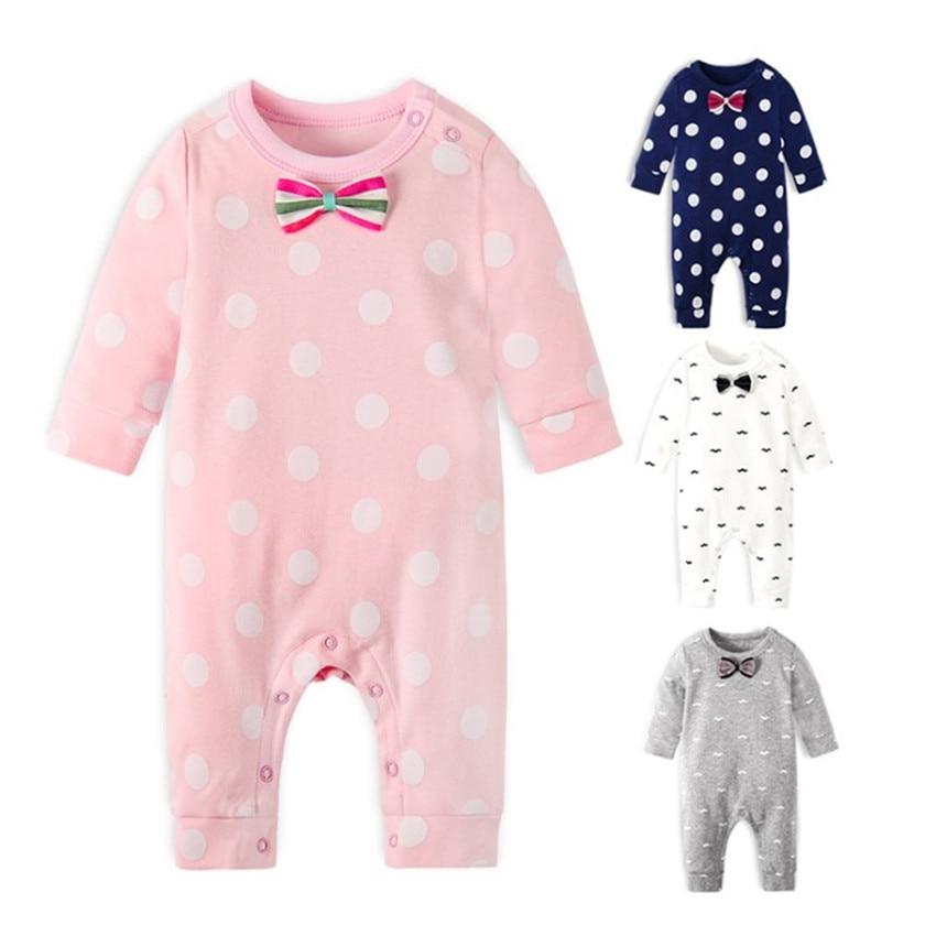 Marke Neue Mode Neugeborenen Kleinkind Infant Baby Jungen Strampler Langarm Overall Overall Kleine Jungen & Mädchen Outfits Schwarz Kleidung