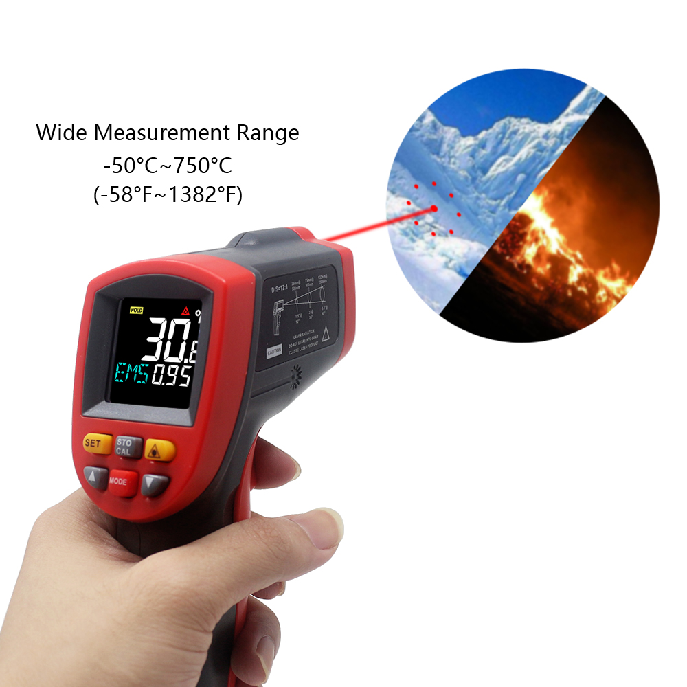 GT750 GT950 IR Infrared Thermometer Laser Gun  50C~750C  50C~950C Pyrometer Digital Non Contact Temperature Tester|Temperature Instruments| |  - title=