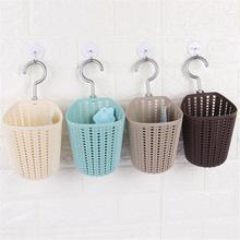 New Plastic Storage Basket Multifunction Knitted Hanging Kitchen Case Bathroom Sundries Accessories