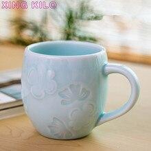 XING KILO Japanese classical mug Creative personality ceramic cup Fashion big tea Coffee Longquan celadon custom