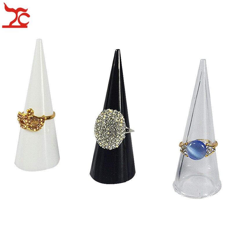 Plastic Finger Cone Fingertip Ring Stand Display Showcase Holder Storage Ring Display Organizer Stand