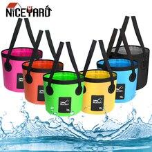 NICEYARD 12L сумка для мойки раковины ведро для мойки автомобилей портативное складное ведро для воды многофункциональное складное ведро