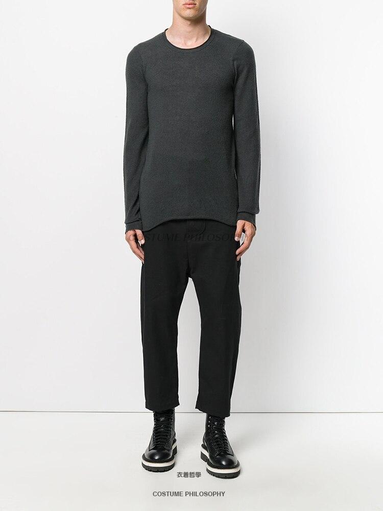 Hommes 6xl Pantalon Noir Double De Couture PantalonS Irrégulière D'origine Maison Avec Simple Taille Classique Conception Occasionnels YfvIbym76g