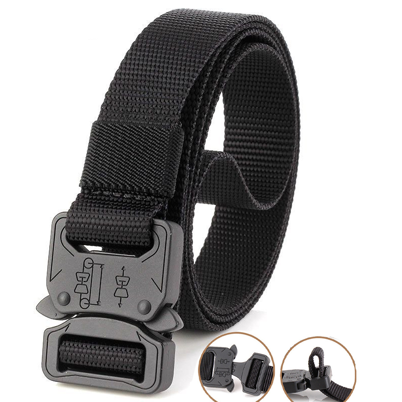 125cm 135cm Tactical Nylon Belt Molle Military Swat Combat Belts Knock Off Emergency Survival Waist Belts Tactical Gear Dropship Men's Belts