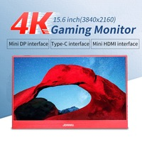 New 15.6 inch 4K Monitor LCD 3840X2160 IPS 2HDMI DP type C portable screen 60FPS Video Gaming monitor for PS4 Pro / XBOX One X