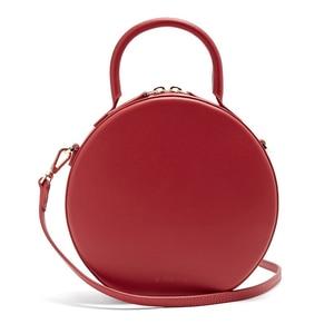 Image 5 - Женская круглая сумка мессенджер, брендовая элегантная сумка из искусственной кожи высокого качества, 2019